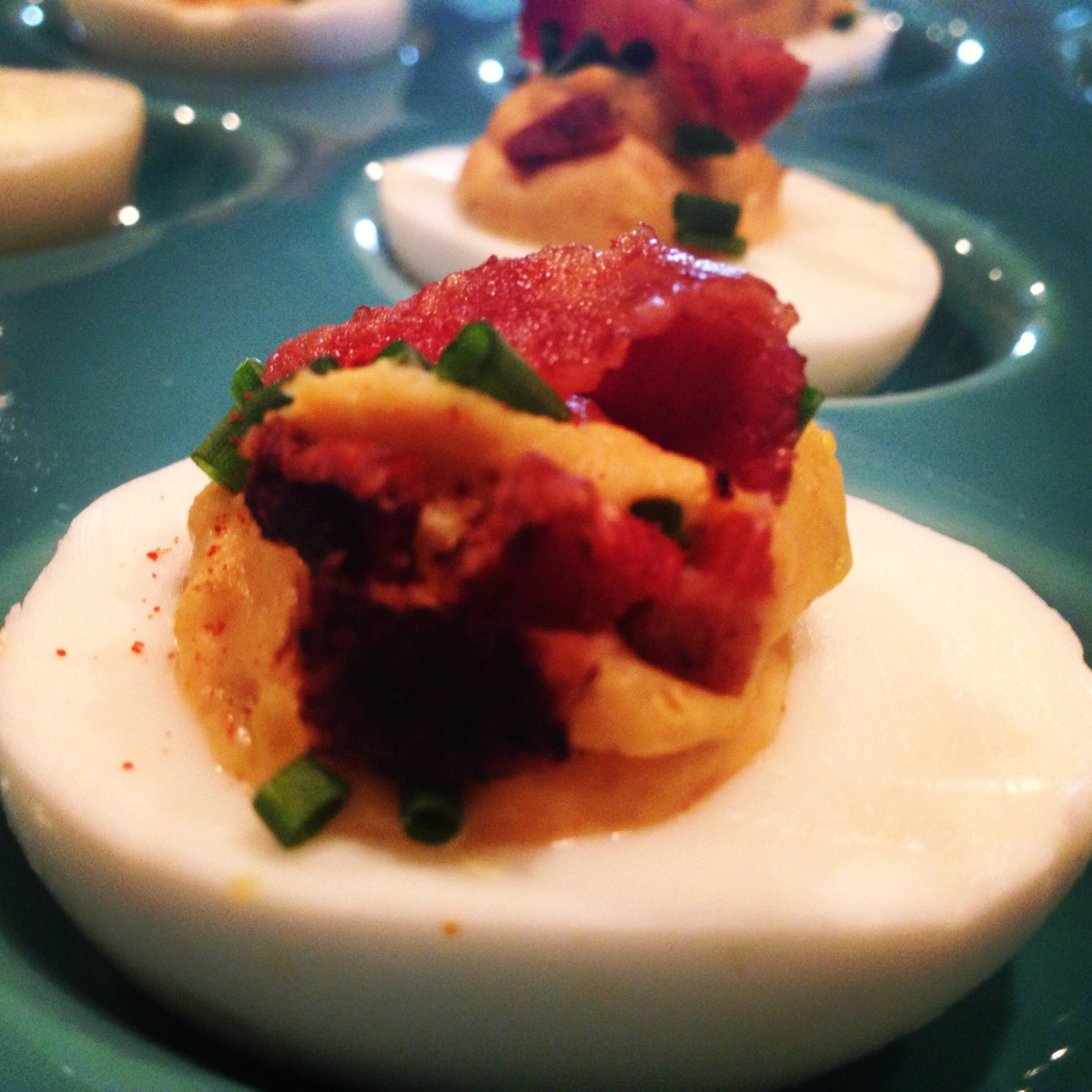 The Perfect Deviled Eggs from The Green Table Restaurant in NYC