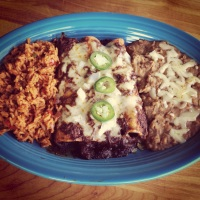 A Tex-Mex Blue Plate Special and Use #3 for Mel's Spicy Pulled Pork…