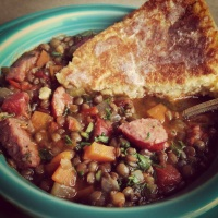 When French du Puy Lentils Find Themselves In A Texas Kitchen…..