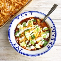 Smoky Ancho Chicken Tortilla Soup