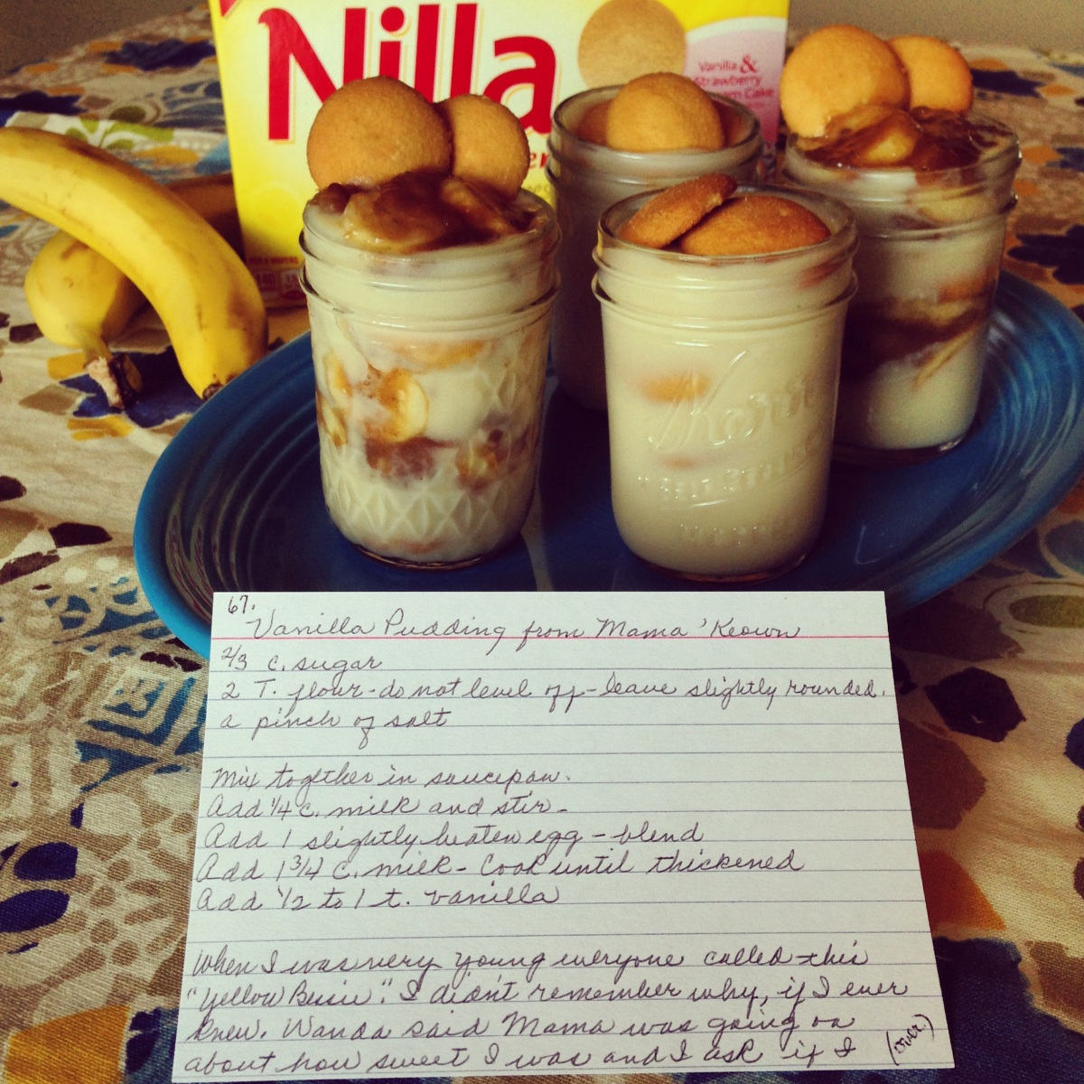 Mama' Keown's Vanilla Pudding: Transformed into Bananas Foster Banana Pudding