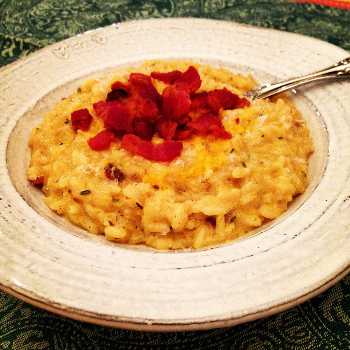 "Bacon ""Mac & Cheese"" Risotto with Truffle Oil and a Leftover Treat..."