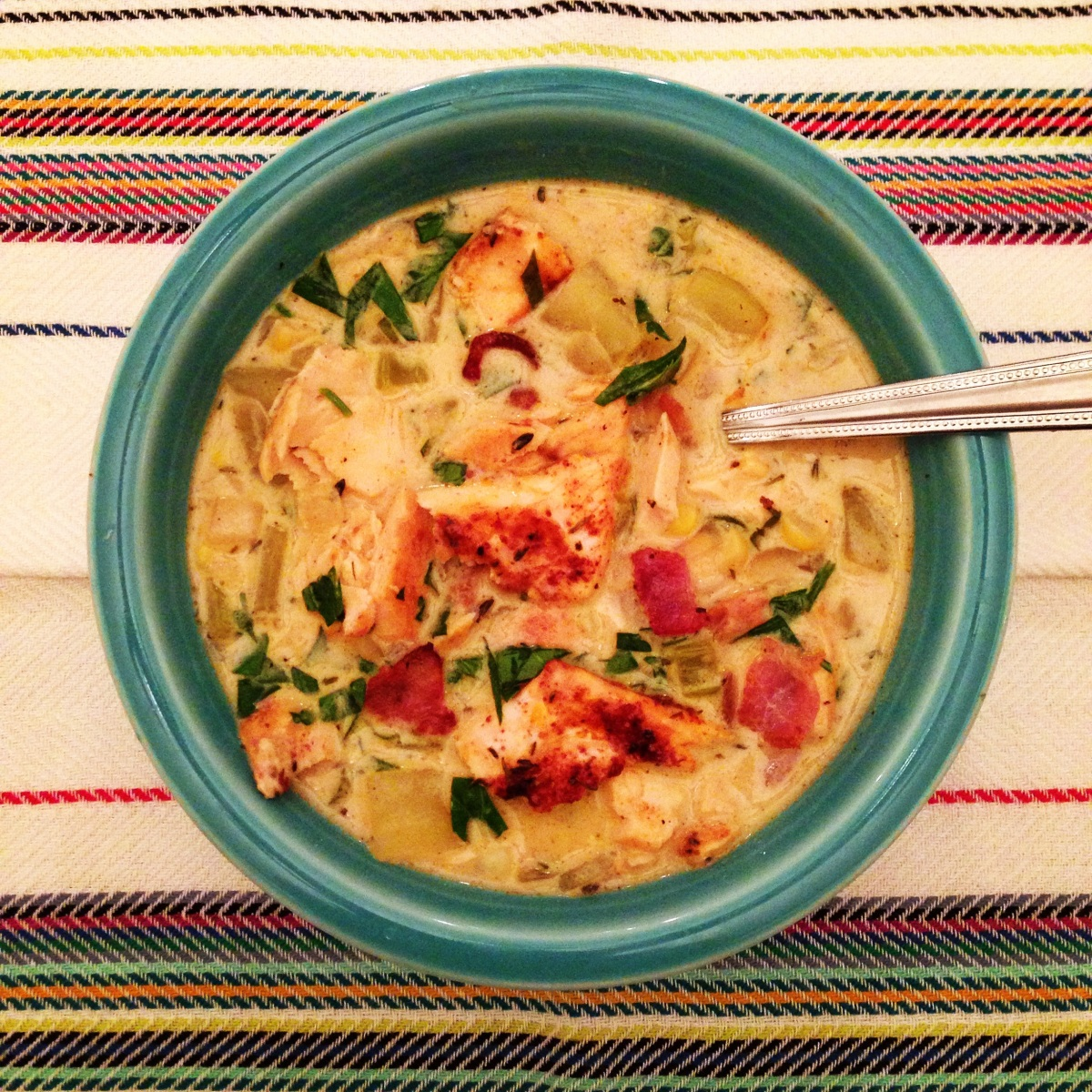 "A Super Bowl of ""Seattle"" Style Salmon Chowder….."