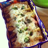 Smoked Chicken Part Two: Easy Smoked Chicken Enchiladas Verde