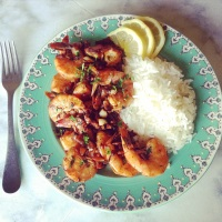 Busy, Busy, Busy: Spicy Garlic Shrimp and Basmati Rice