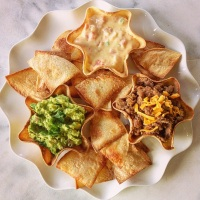 Guacamole for Two, Mini Tortilla Shell Bowls, and Mexi-Dips and Chips…