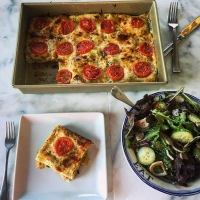Creamy Roasted Summer Squash Lasagna