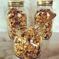 Weekend Fun and Homemade Blueberry Nut Crunch Granola