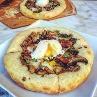 Bacon Mushroom Pizza Bianca