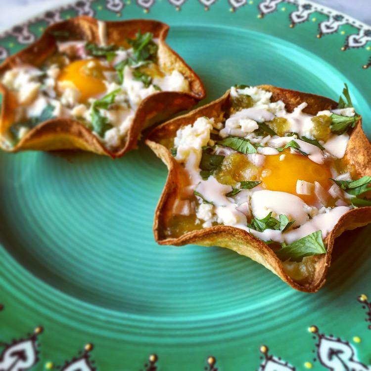 Baked Huevos Chilaquiles Verde
