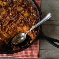 Countdown to Turkey Day: Spiced Sweet Potato Gratin