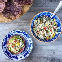 A Mexican Fiesta: Sweet and Spicy Crab Ceviche Tostadas