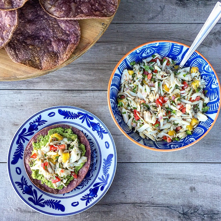Sweet and Spicy Crab Ceviche Tostada