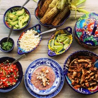 A Mexican Fiesta: Grilled Tamarind Chicken Tacos