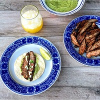 A Mexican Fiesta: Carne Asada & Quick Houston Style Green Salsa