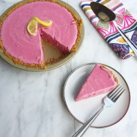 Hibiscus Pink Lemonade Pie