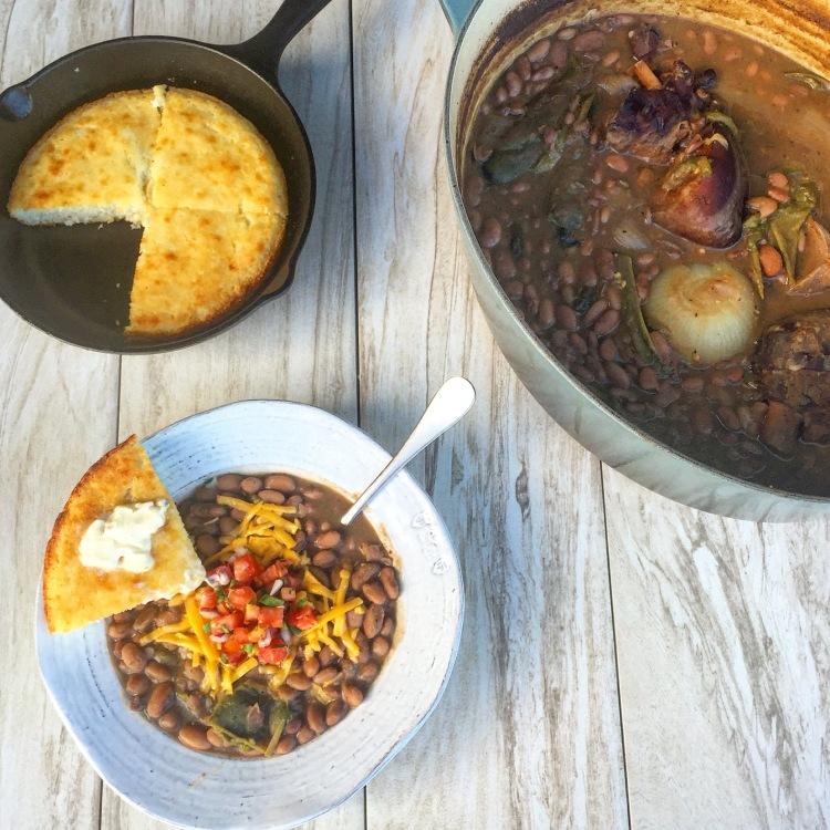 Jalapeño Pinto Beans and Cornbread