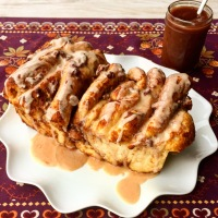 Slow Cooker Apple Butter & Apple Butter Pull Apart Bread
