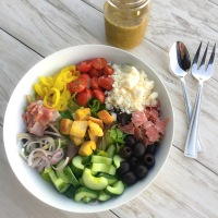 Chopped Italian Salad and Herbaceous Dressing